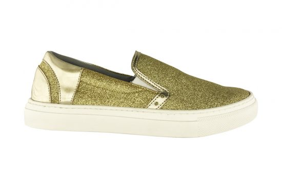 Scarpa Donna Slip On Gold