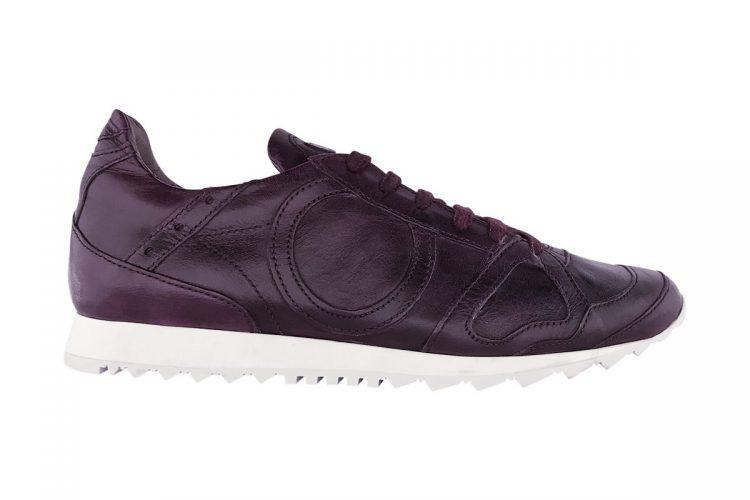 sneakers jog uomo donna tinta a mano bordeaux