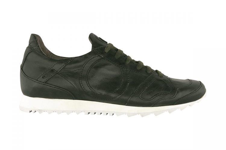 sneakers uomo donna jog tinta a mano oliva