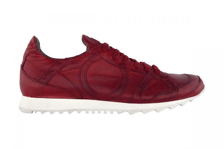 sneakers jog uomo donna tinta a mano rossa