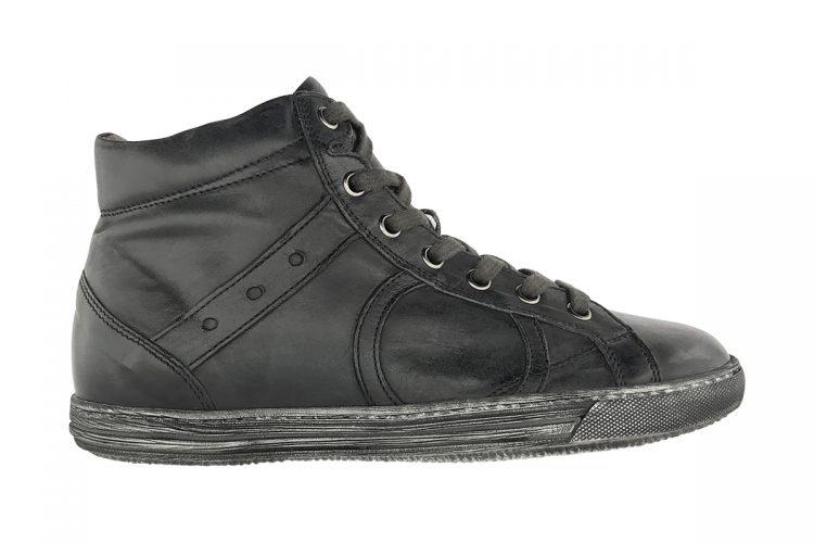 sneakers alta tinta a mano grigio