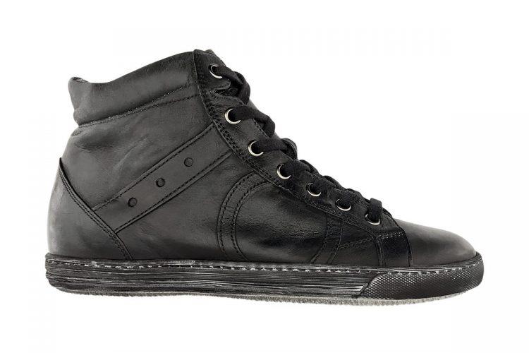 sneakers alta tinta a mano nera