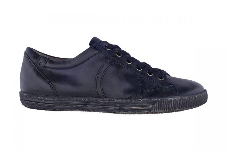 sneakers bassa uomo donna tinta a mano blue