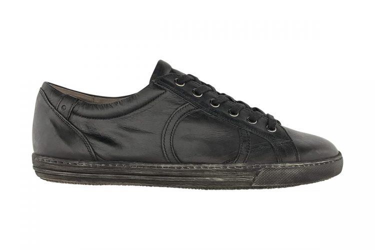 sneakers bassa tinta a mano grigio